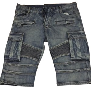 Balmain Cargo Shorts Blue