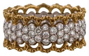 BUCCELLATI BUCCELLATI-Diamond-Ring-w-18K-Yellow-and-White-Gold-Authenic-w-papers
