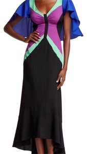 Black, blue, purple Maxi Dress by Tracy Reese