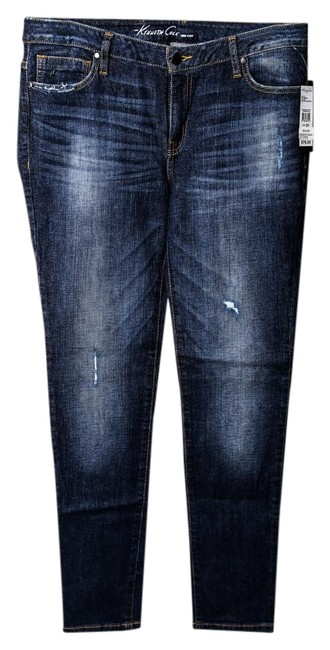 Kenneth Cole Womens Skinny Jeans-Dark Rinse Image 0