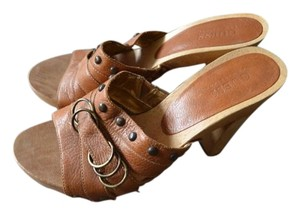 Guess Leather light brown Mules