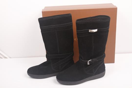 Coach Faux Shearling Lined Winter Snow Suede Leather Warm Black Boots Image 5