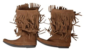 Minnetonka Suede Fringe Brown Boots
