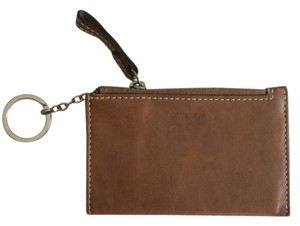 Coach Brown Leather Coin Chain Wallet