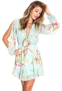 Love Culture short dress Light Blue Floral on Tradesy