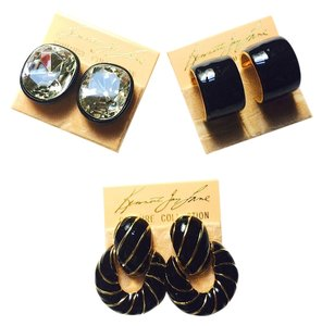 Kenneth Jay Lane Kenneth Jay Lane Couture Collection Clip on Earrings Set