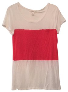 Forever 21 T Shirt Red and white color block
