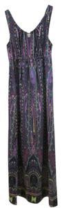 Purple print Maxi Dress by ECI New York