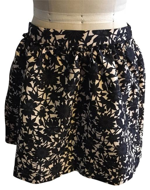 Frenchi Skirt Black, Navy And Ivory Print