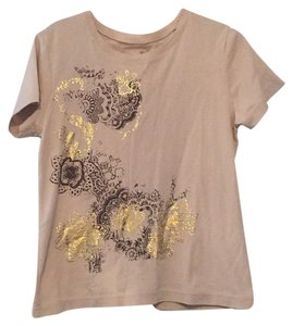 Carolyn Taylor T Shirt tan with gold