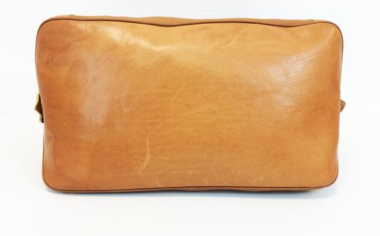 Barneys New York Cuoio Overnight Leather Camel Camello Travel Bag