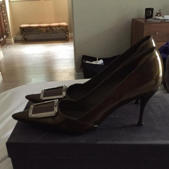 Prada Bronze Pumps Image 1