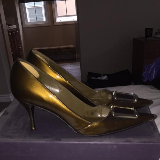 Prada Bronze Pumps Image 3