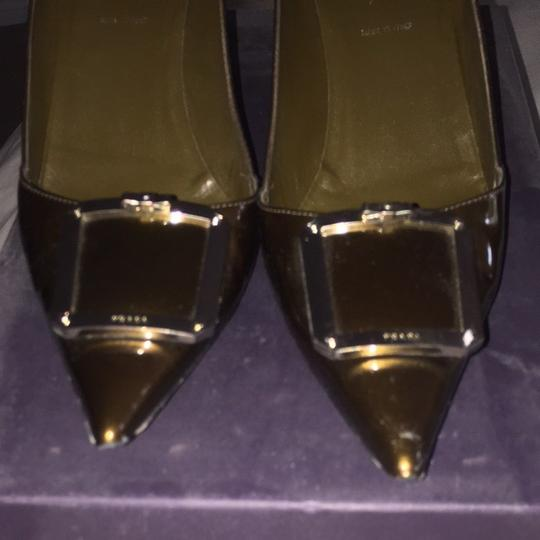 Prada Bronze Pumps Image 4