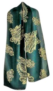 Other NEW forest-green floral-paisley pattern polyester