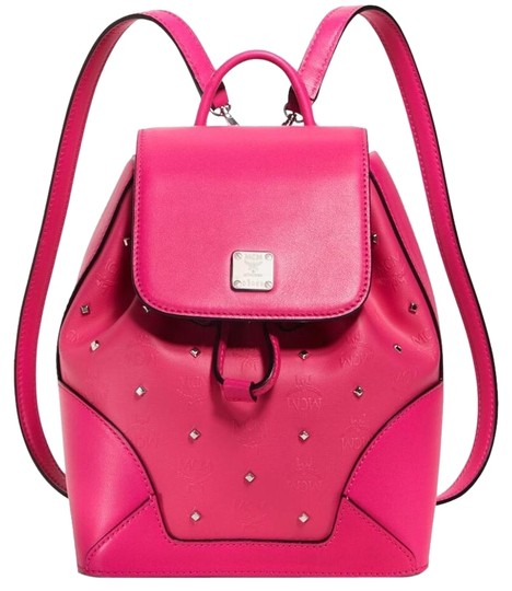 Preload https://img-static.tradesy.com/item/18556087/mcm-new-claudia-studded-beetroot-pink-canvas-backpack-0-1-540-540.jpg
