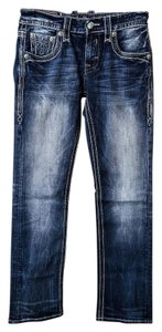 Rock Revival Mens Jean Straight Leg Jeans-Distressed
