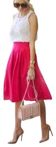 Halogen Eyelet Hot Women Skirt Pink
