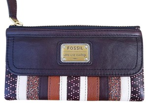 Fossil Brown Wallet Cocoa Bark Combo Clutch