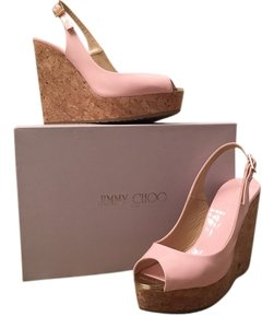 Jimmy Choo Summer Pink Wedges
