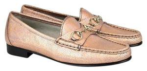 Gucci Womens 1953 Leather Horsebit Flats