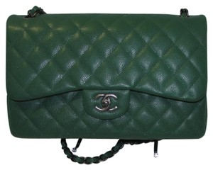 Chanel Leather Jumbo Shoulder Bag