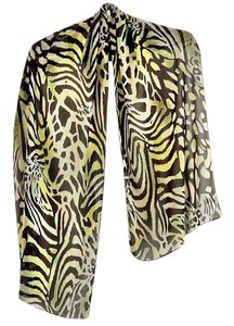 INC International Concepts NEW black/celery/white animal print polyester