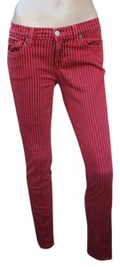 Elizabeth and James Striped Ankle Length Skinny Skinny Jeans