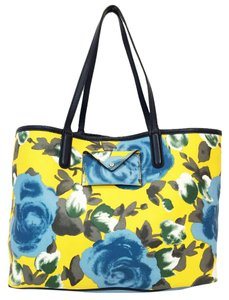 Marc by Marc Jacobs Floral Pvc Yellow Striped Tote in Yellow/Floral Print