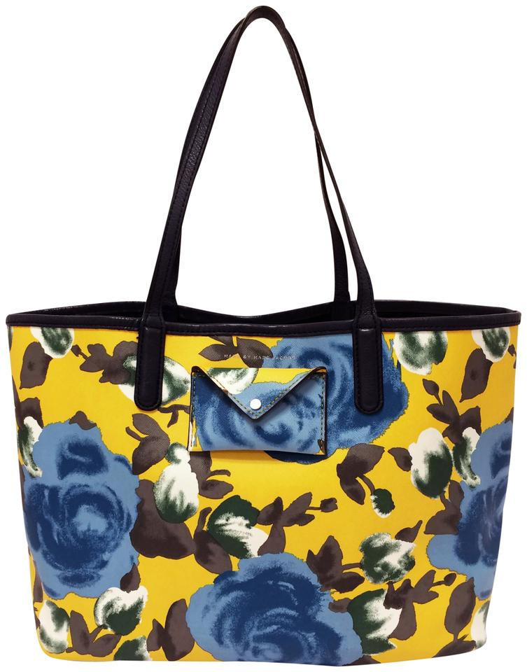 6feb0e0fc621 Marc by Marc Jacobs Metropolitote 48 Jerrie Rose Yellow Floral Print ...