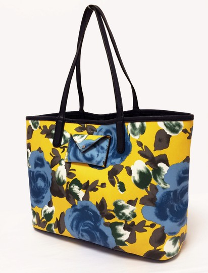 Marc by Marc Jacobs Pvc Striped Tote in Yellow Floral Print