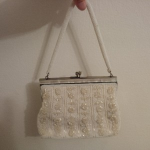 Very Vintage Mop & Glass Beaded Purse ~ Shabby Vintage Wedding?