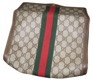 Gucci Made In Italy. Tag Says Accessory Collection #89-01-006 Brown leather Clutch