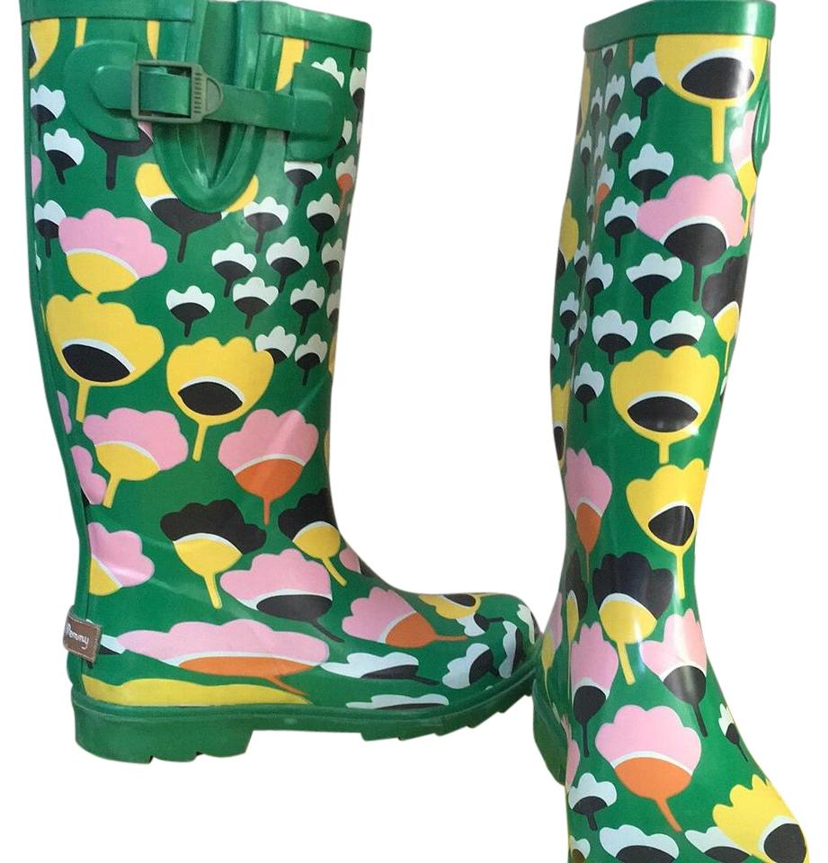 LADY Anthropologie Green Rain Rain Green Boots/Booties newcomer 65455b