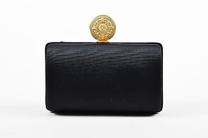 Barry Kieselstein-Cord Twill Gold Tone Black Clutch