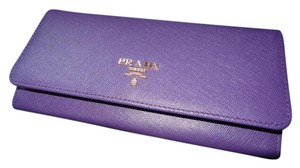 Prada Prada Purple Saffiano Leather Long Wallet