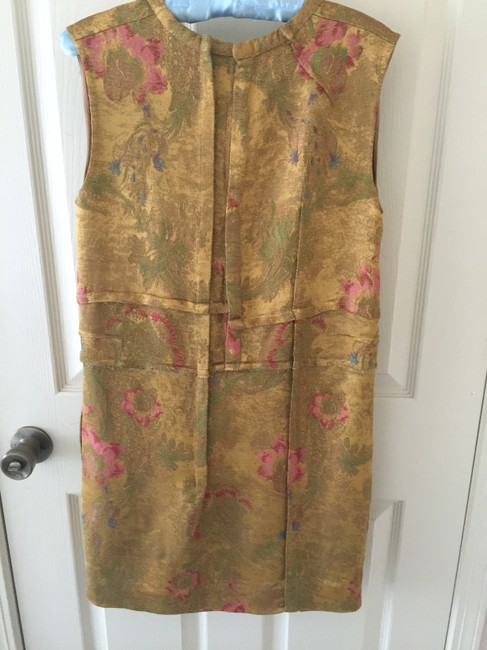 Marni short dress Gold on Tradesy