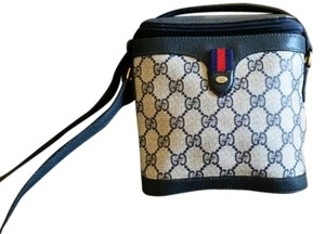 Gucci Leather Monogram Striped Cross Body Bag