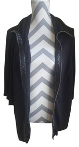 Debbie Morgan Dark Flowy Poncho Overthrow Long Black Jacket