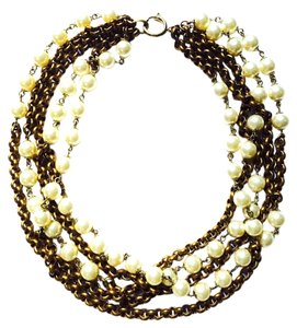 Chanel CHANEL Multistrand Pearl Chain Necklace 03A