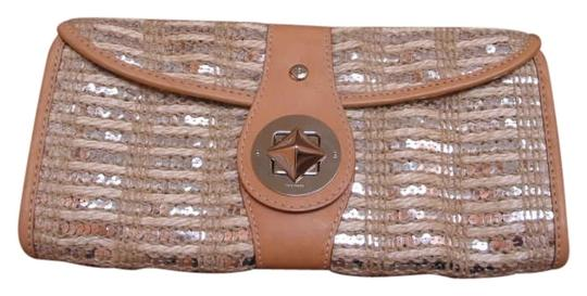 Preload https://img-static.tradesy.com/item/185588/kate-spade-metallic-and-tan-leather-rope-pallettes-clutch-0-0-540-540.jpg