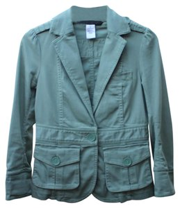Marc Jacobs Fitted Front Pockets Green Blazer