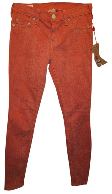 Item - Dark Burnt Orange Skinny Jeans Size 27 (4, S)