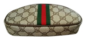 Gucci Brown Vintage Gucci GG Clutch Cosmetic