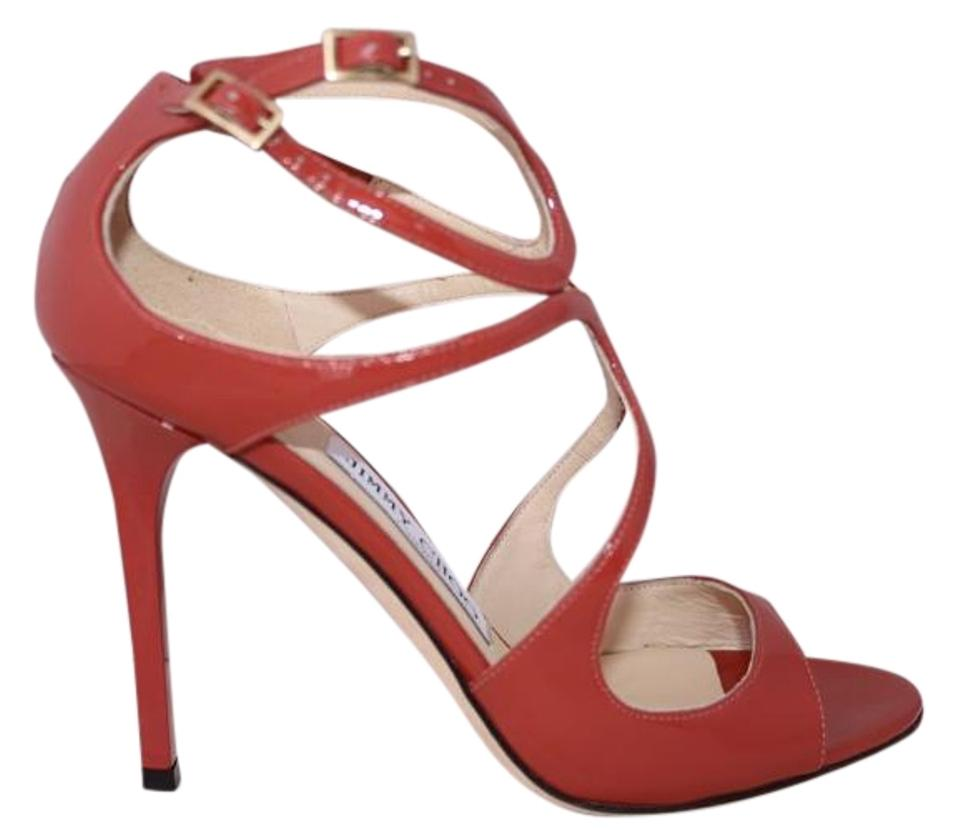 e40490034de9 Jimmy Choo Patent Patent Leather Strappy Open Toe Ankle Strap Agate Sandals  Image 0 ...