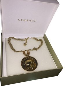 Versace Used Once - VERSACE Gold Medusa Logo Necklace