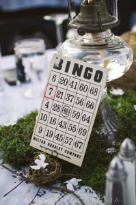 Vintage Bingo Card Table Numbers