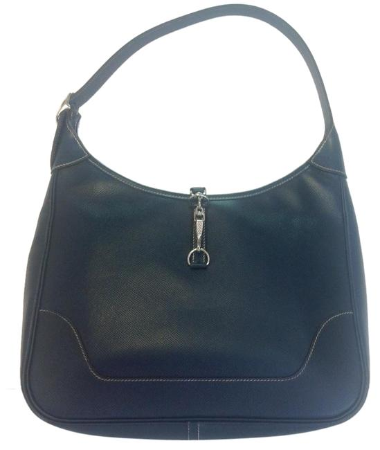 Item - Trim Indigo 31cm Il Blue Leather Hobo Bag