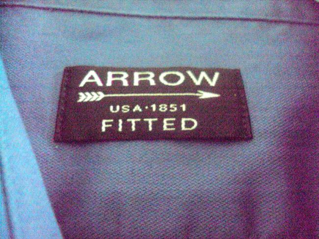 Arrow Men's Shirt Wrinkle Free Button Down Shirt Blue, Olive Green
