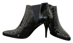 Prada Black embossed patent leather Boots